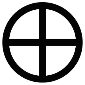 croix dans cercle solaire
