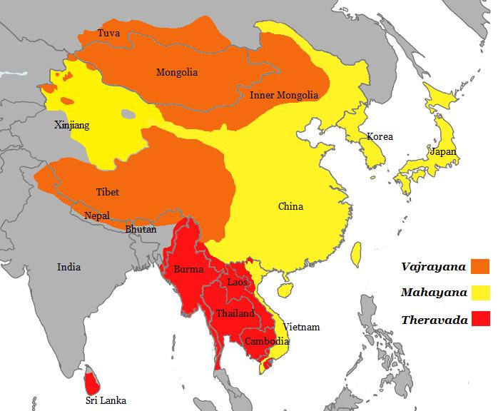 différentes écoles du bouddhisme