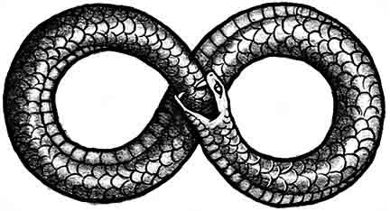 serpent symbole infini
