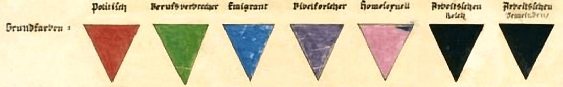 marquage nazi triangle
