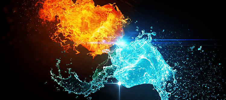 l'eau et le feu en alchimie