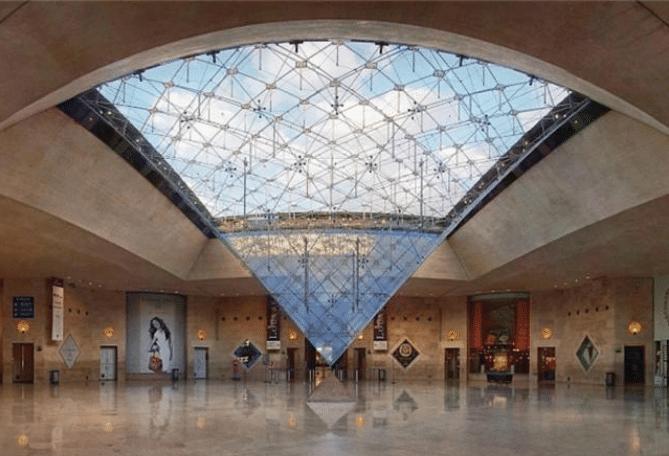 pyramide inversée carrousel du Louvre