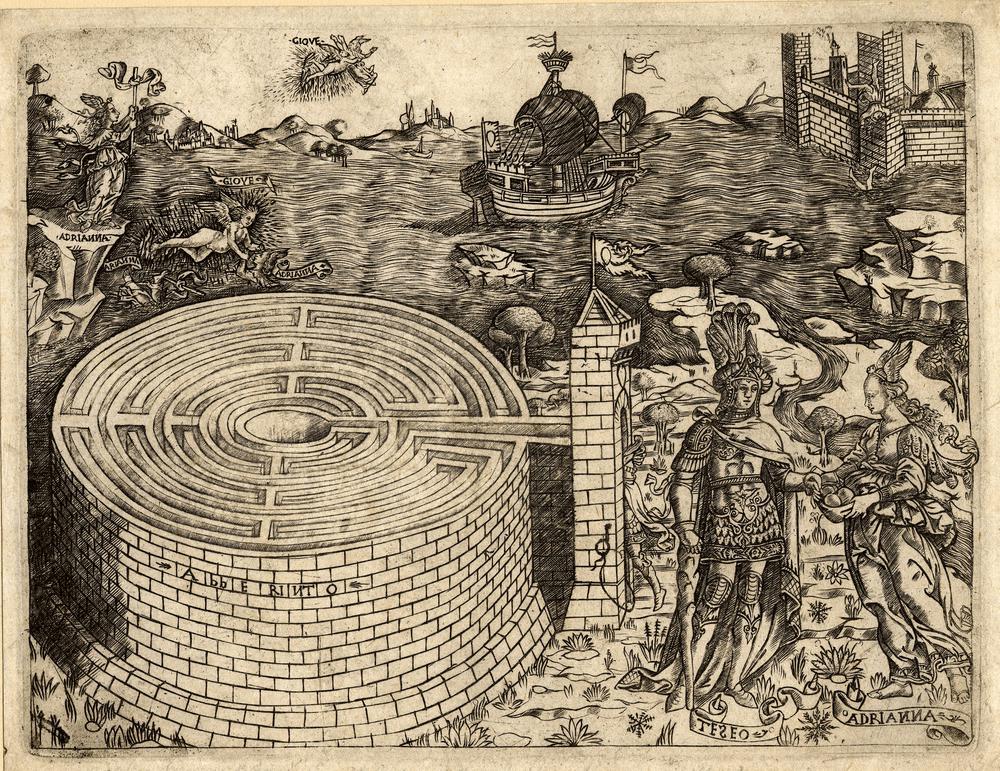 teseo et adrianna labyrinthe british museum